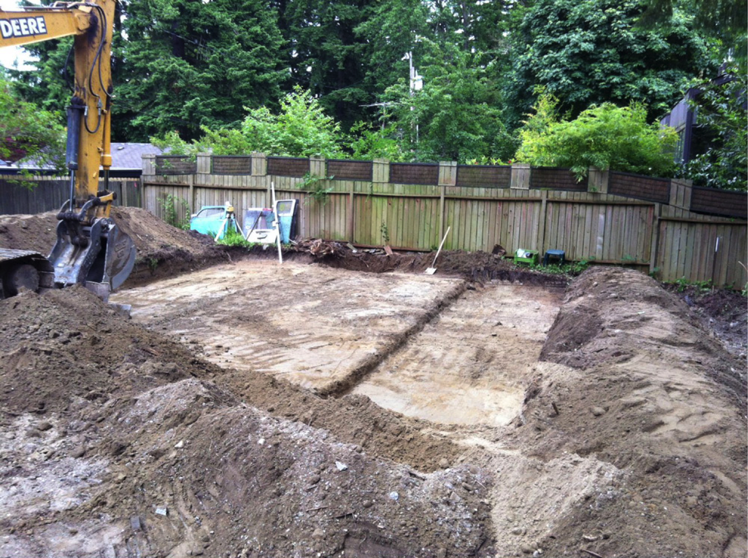 photo of laying a house foundation