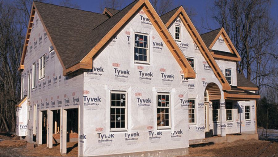 Photo of a house being constructed