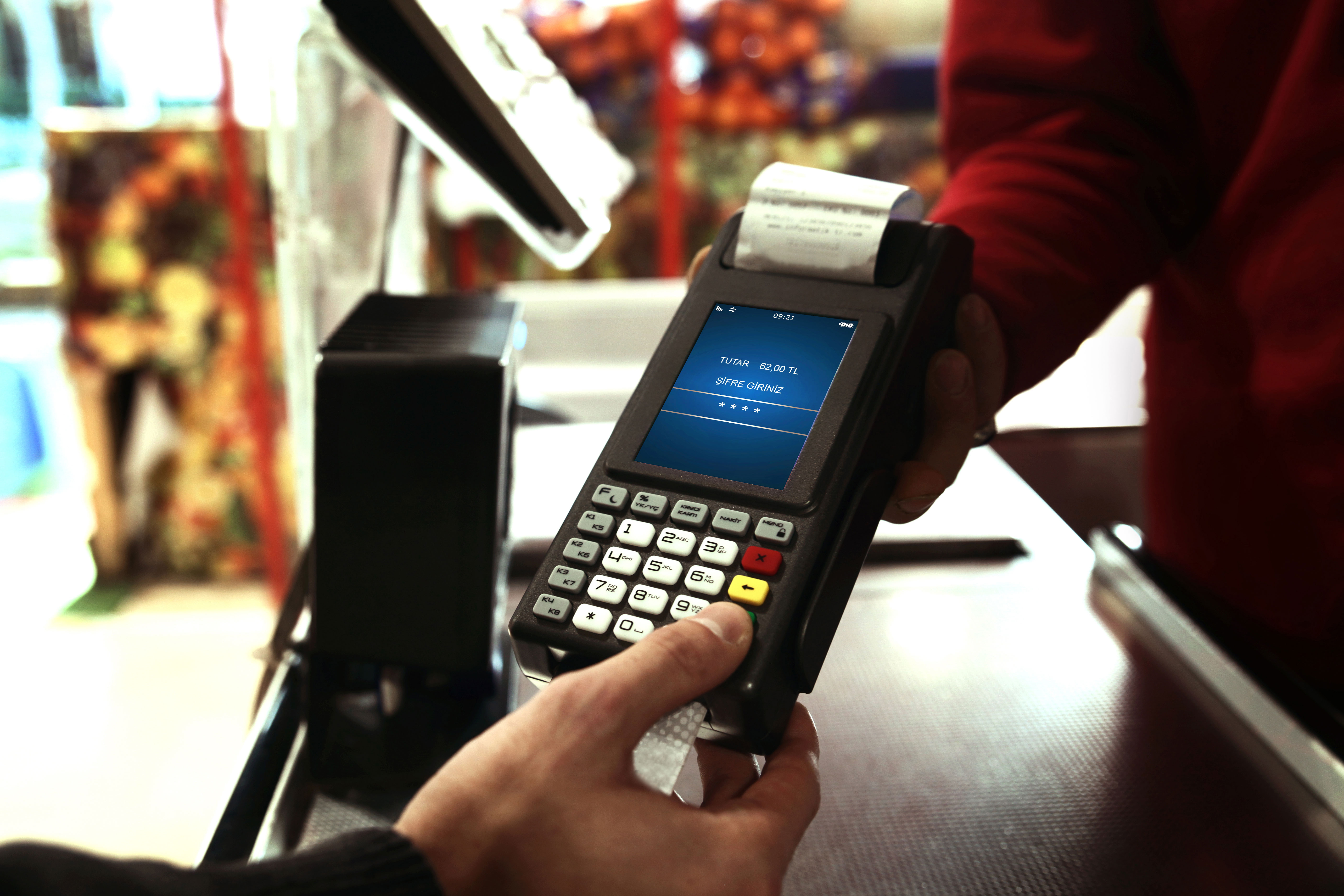 Photo of a credit card transaction
