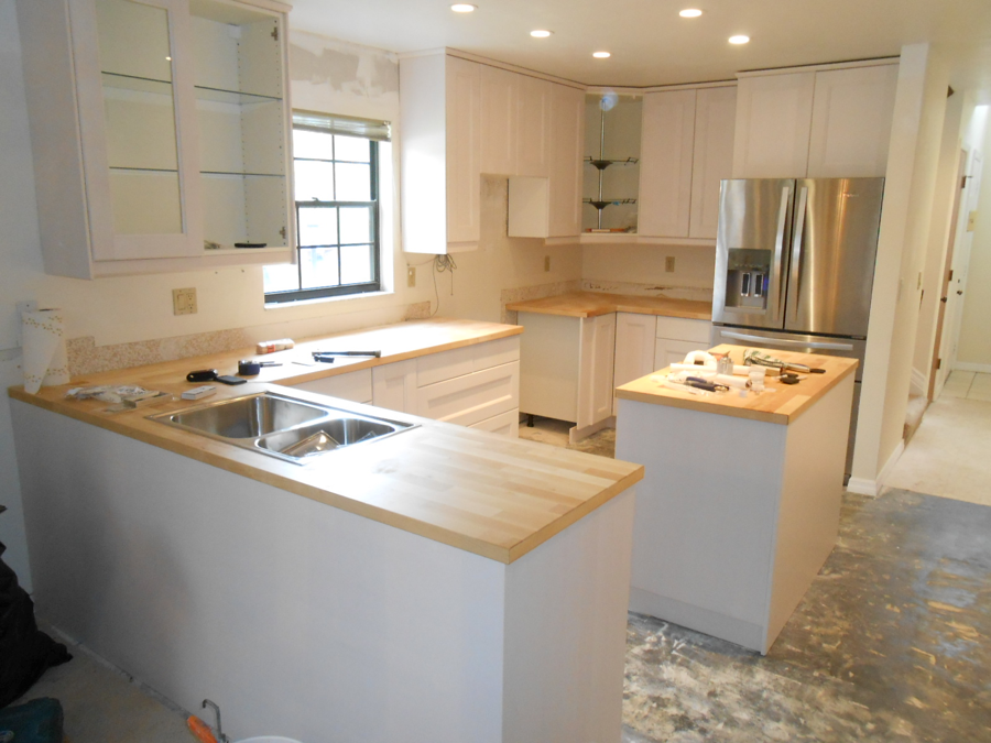 Photo of finished kitchen