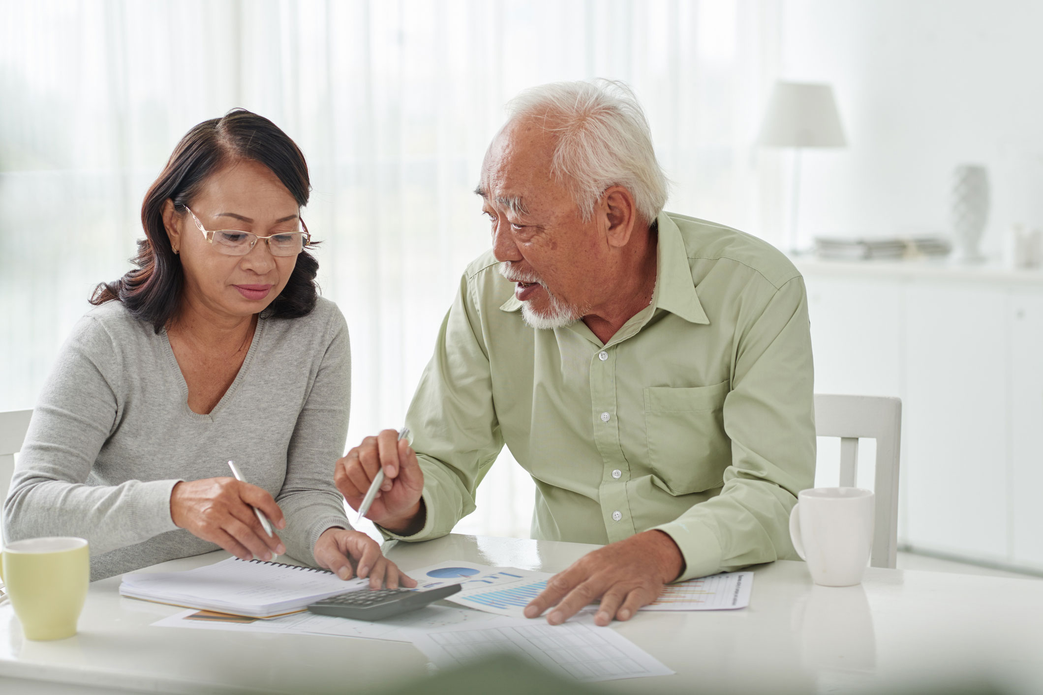 photo of an adult helping with finances