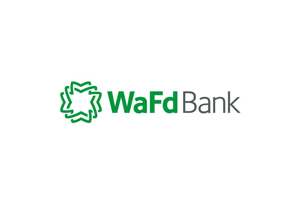 The local WaFd Bank branch building